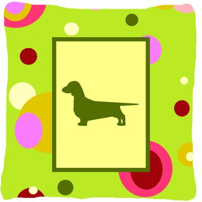 Dachshund Indoor/Outdoor Square Throw Pillow