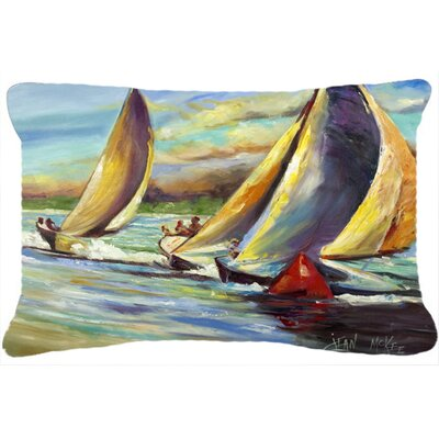 Arya Pass Christian Sailboats Indoor/Outdoor Throw Pillow
