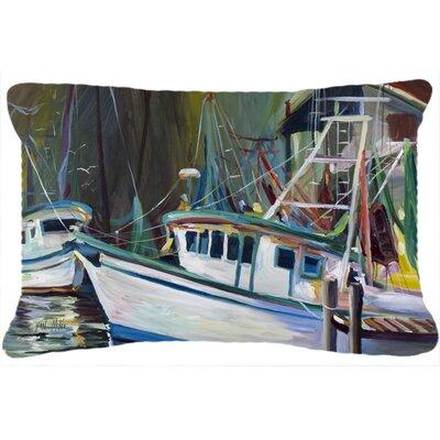 Joe Patti Shrimp Boat Indoor/Outdoor Throw Pillow