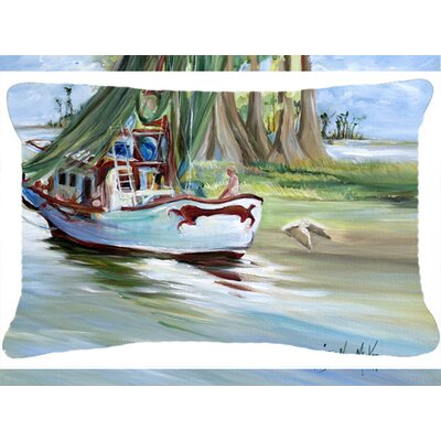 Finley Boat Indoor/Outdoor Throw Pillow