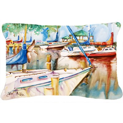 Sailboats at The Gazebo Indoor/Outdoor Throw Pillow