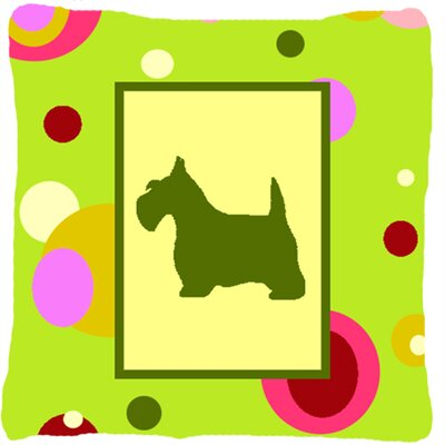 Scottish Terrier Polka Dots Indoor/Outdoor Throw Pillow