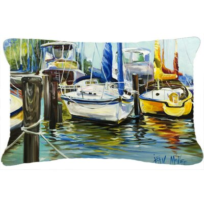 Yellow Boat II Sailboat Indoor/Outdoor Throw Pillow