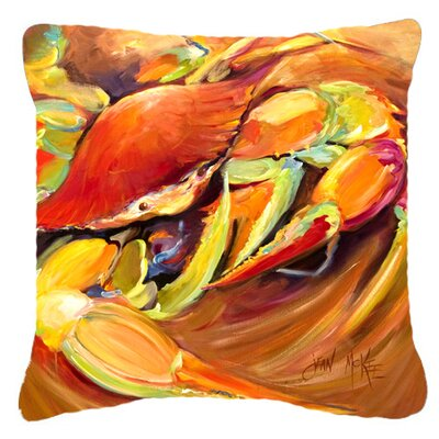 Crab Spice Indoor/Outdoor Throw Pillow Size: 14 H x 14 W x 4 D