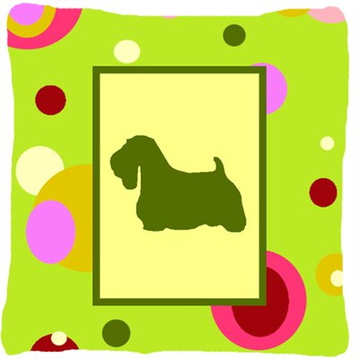Green Sealyham Terrier Indoor/Outdoor Throw Pillow