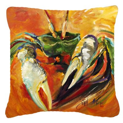 Small Orange Crab Indoor/Outdoor Throw Pillow Size: 18 H x 18 W x 5.5 D