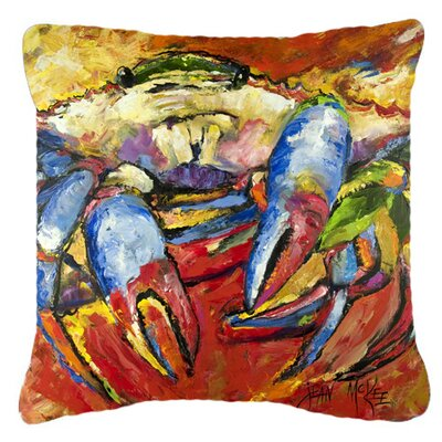 Red Crab Indoor/Outdoor Throw Pillow Size: 14 H x 14 W x 4 D