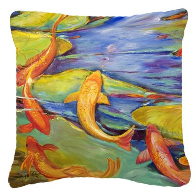 Koi Indoor/Outdoor Throw Pillow Size: 14 H x 14 W x 4 D