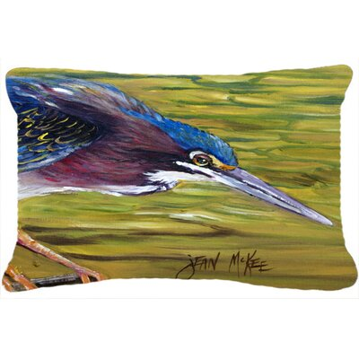 Green Heron Indoor/Outdoor Throw Pillow