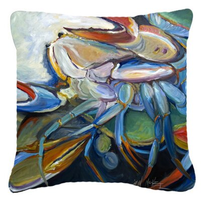 Crab Indoor/Outdoor Throw Pillow Size: 14 H x 14 W x 4 D