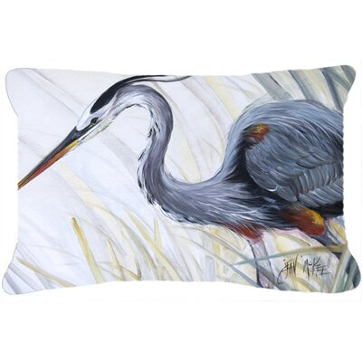 Blue Heron Frog Hunting Indoor/Outdoor Throw Pillow