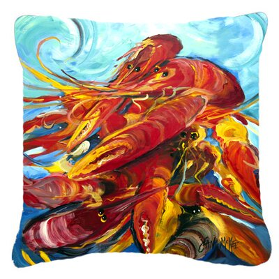 Crawfish Indoor/Outdoor Throw Pillow Size: 14 H x 14 W x 4 D