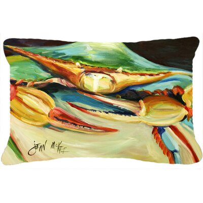 Rectangular Blue Crab Indoor/Outdoor Throw Pillow