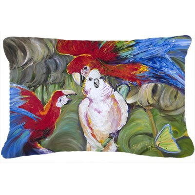 Menage-A-Trois Parrots Indoor/Outdoor Throw Pillow