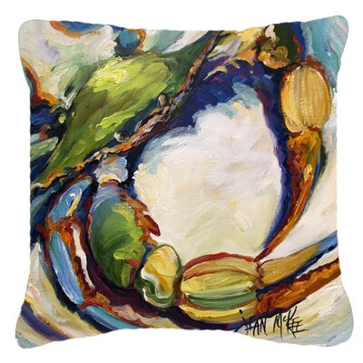 Crab Square Indoor/Outdoor Throw Pillow Size: 14 H x 14 W x 4 D