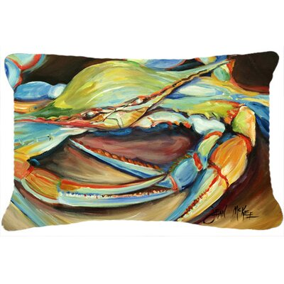 Blue Crab Stain Resistant Indoor/Outdoor Throw Pillow