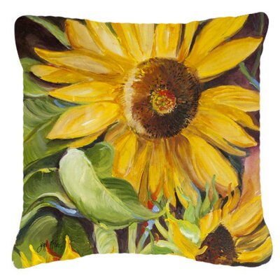 Landon Sunflowers Green/Yellow Indoor/Outdoor Throw Pillow Size: 14 H x 14 W x 4 D