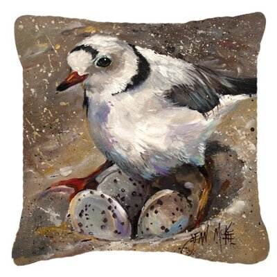 Piping Plover Indoor/Outdoor Throw Pillow Size: 14 H x 14 W x 4 D