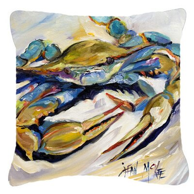 Crab Green/Gray Indoor/Outdoor Throw Pillow Size: 14 H x 14 W x 4 D