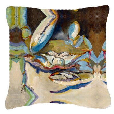 Three Big Claw Crab Indoor/Outdoor Throw Pillow Size: 14 H x 14 W x 4 D