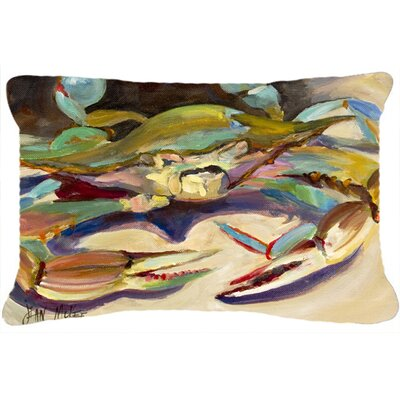 Blue Crab Tail Fin Indoor/Outdoor Throw Pillow