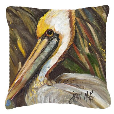 Pelican Lookin East Indoor/Outdoor Throw Pillow Size: 14 H x 14 W x 4 D