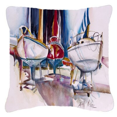 Dry Dock Sailboats Indoor/Outdoor Throw Pillow Size: 14 H x 14 W x 4 D