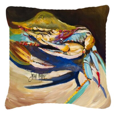 Crab To Claw Up Crab Indoor/Outdoor Throw Pillow Size: 14 H x 14 W x 4 D