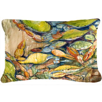 Jubilee Blue Crab Indoor/Outdoor Throw Pillow