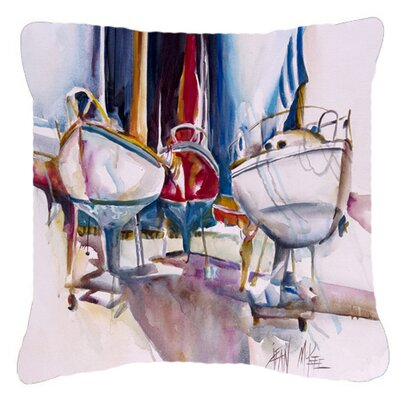 Dry Dock Sailboats Indoor/Outdoor Throw Pillow Size: 18 H x 18 W x 5.5 D