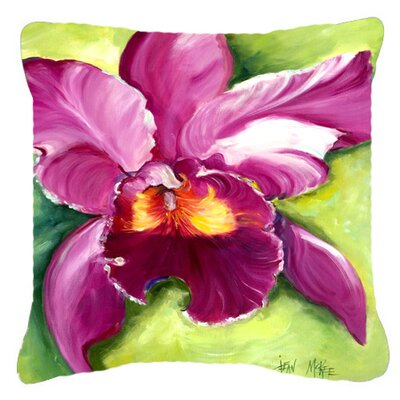 Orchid Indoor/Outdoor Throw Pillow Size: 18 H x 18 W x 5.5 D
