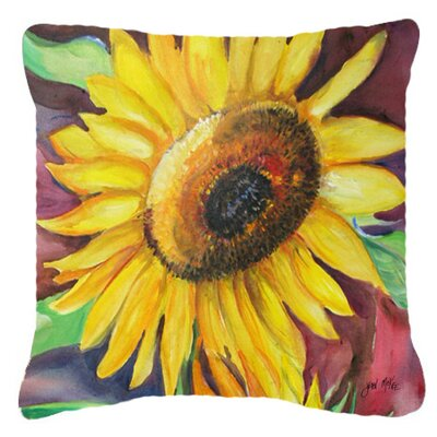 Landon Sunflowers Indoor/Outdoor Throw Pillow Size: 18 H x 18 W x 5.5 D