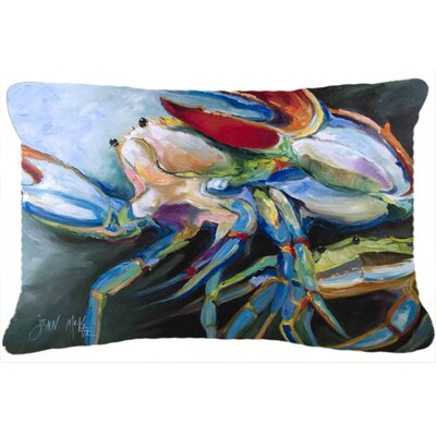 Blue/Green/Beige Crab Indoor/Outdoor Throw Pillow