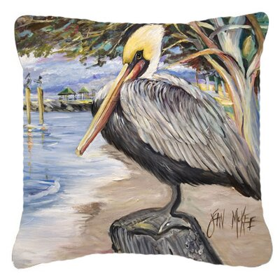 Pelican Bay Indoor/Outdoor Throw Pillow Size: 14 H x 14 W x 4 D