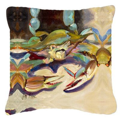 Crab Tailfin Crab Indoor/Outdoor Throw Pillow Size: 14 H x 14 W x 4 D