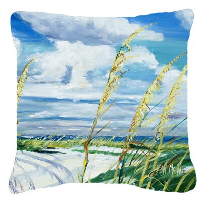 Sea Oats Indoor/Outdoor Throw Pillow Size: 14 H x 14 W x 4 D