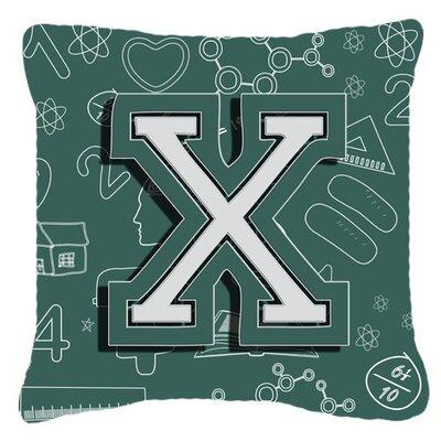 Monogram Initial Back To School Indoor/Outdoor Throw Pillow