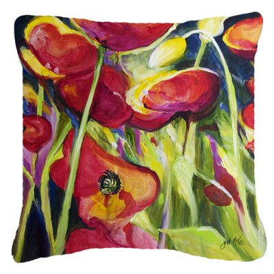 Poppies Indoor/Outdoor Throw Pillow Size: 18 H x 18 W x 5.5 D