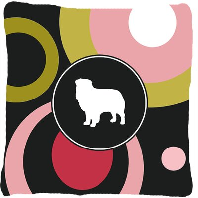 Australian Shepherd Polka Dots Indoor/Outdoor Throw Pillow