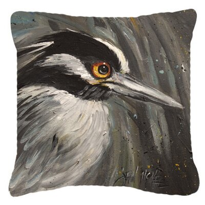 Night Heron Indoor/Outdoor Throw Pillow Size: 14 H x 14 W x 4 D