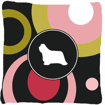 Bearded Collie Polka Dots Square Indoor/Outdoor Throw Pillow