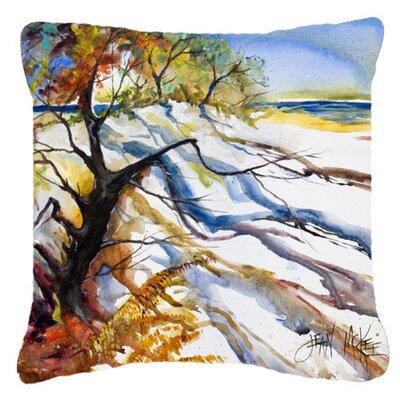 Sand Dune Indoor/Outdoor Throw Pillow Size: 14 H x 14 W x 4 D