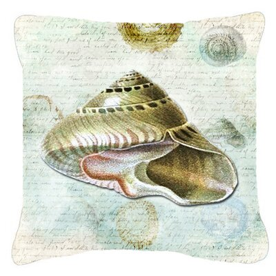 Balderston Beige/Green Indoor/Outdoor Throw Pillow Size: 14 H x 14 W x 4 D