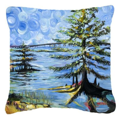 Life on The Causeway Indoor/Outdoor Throw Pillow Size: 14 H x 14 W x 4 D