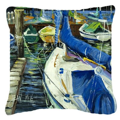 Sailboats Indoor/Outdoor Throw Pillow Size: 14 H x 14 W x 4 D