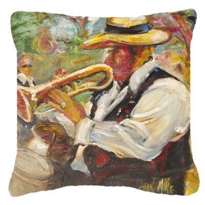 Jazz Trumpet Indoor/Outdoor Throw Pillow Size: 14 H x 14 W x 4 D