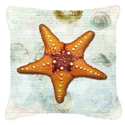 Starfish Indoor/Outdoor Throw Pillow Size: 14 H x 14 W x 4 D