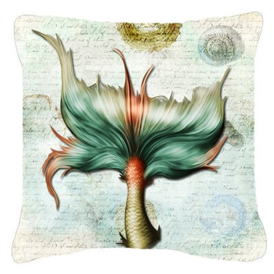 Mermaids and Mermen Tail Indoor/Outdoor Throw Pillow Size: 14 H x 14 W x 4 D