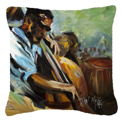 Jazz Bass Indoor/Outdoor Throw Pillow Size: 14 H x 14 W x 4 D