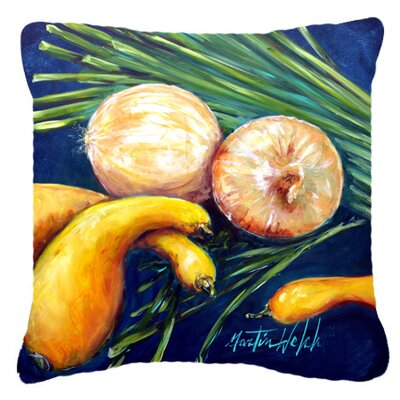 Crooked Neck Squash Indoor/Outdoor Throw Pillow Size: 18 H x 18 W x 5.5 D